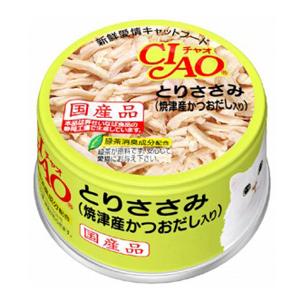 いなばペットフード CIAO ホワイティ とりささみ(焼津産かつおだし入り)85g C−60