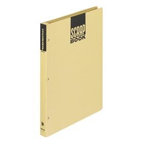 スクラップブックDとじ込み式A4 中紙28枚 茶 ラ-40