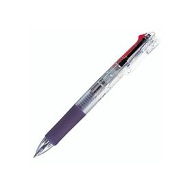 4色ボールペンクリップオンG4C 0.7mm黒赤青緑 透明軸 342532