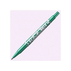 油性ペン マッキー極細(細・極細両用) 緑 341239