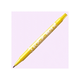 油性ペン マッキー極細(細・極細両用) 黄 341235