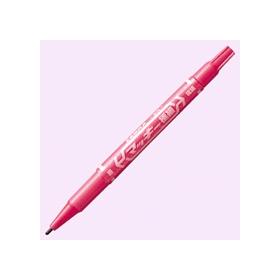 油性ペン マッキー極細(細・極細両用) ピンク 341238