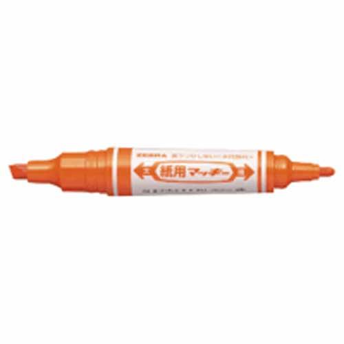 水性マーカー 紙用マッキー(太・細) オレンジ WYT5−OR 240256