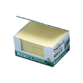 ポスト・イット再生紙エコノパックイエロー 5001−Y