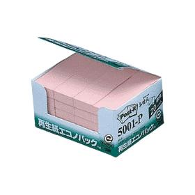 ポスト・イット再生紙エコノパックピンク 5001−P 332951