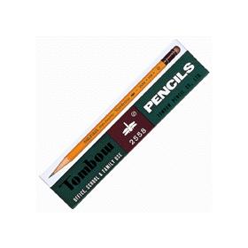 トンボ鉛筆2558(消しゴム付) B 12本入 341639