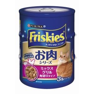 フリスキー缶 ミックスグルメ角切りタイプ 155g×3缶パック