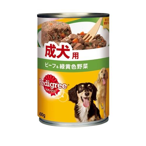 ぺディグリー 成犬用 ビーフ&緑黄色野菜 400g