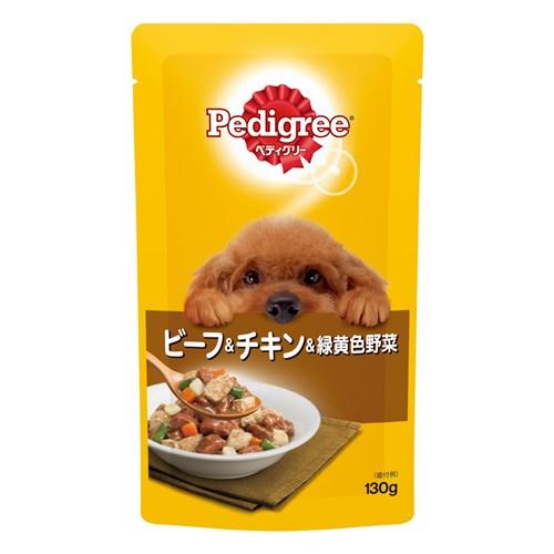 成犬用元気な毎日サポート 旨みビーフ&チキン&緑黄色野菜 130g