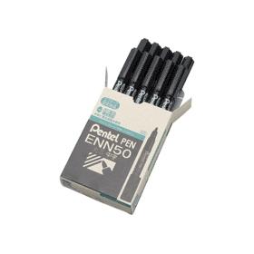 油性ペン ぺんてるペン 丸芯・中字 黒 343505