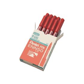 油性ペン ぺんてるペン 丸芯・中字 赤 343506