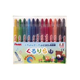 くりだし色鉛筆 くるりら 12色 GTW−12 12本入 343959