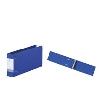 リクエスト・D型リングファイル統一伝票サイズ2穴 青 300421