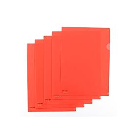 カラークリアーホルダー 1枚 A4 F−78 赤