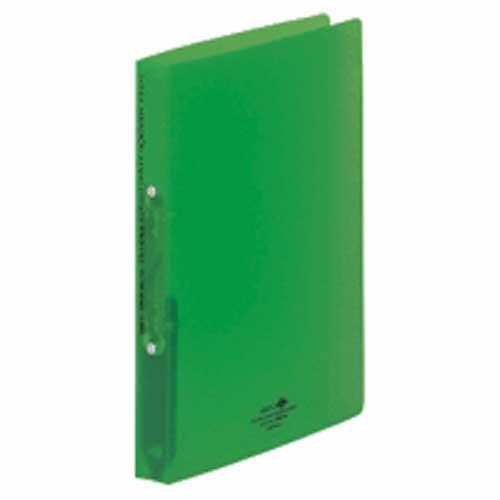 アクアドロップス リングファイル A5縦 背幅32 黄緑 204952