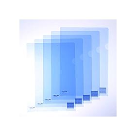 カラークリアーホルダー 1枚 A4 F−78 クリスタルブルー