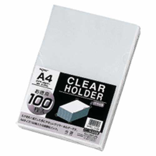 クリヤーホルダーA4 G6100 乳白 100枚 204454
