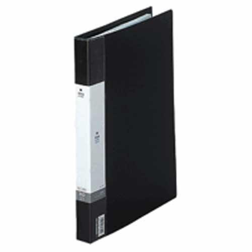 リクエスト名刺帳A4縦 ポケット数300枚 背幅25mm 黒 204460