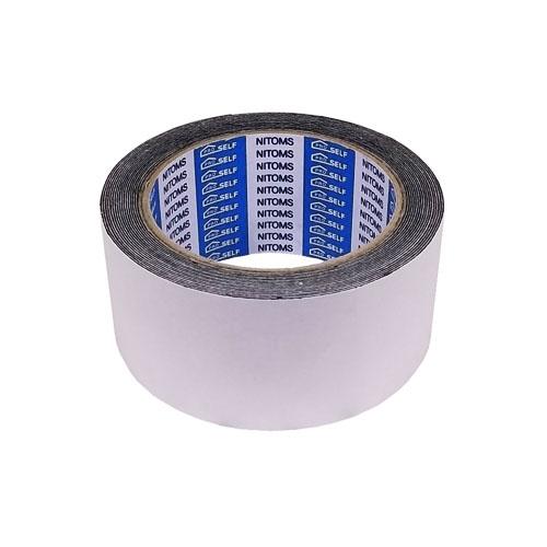 強力防水補修テープ 黒ブチル片面粘着タイプ 厚さ0.5mm×幅50mm×長さ5m