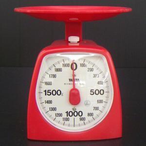 クッキングスケール2kg レッド