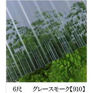 JIS規格品ポリカナミイタ グレースモーク 6尺 ×10枚セット