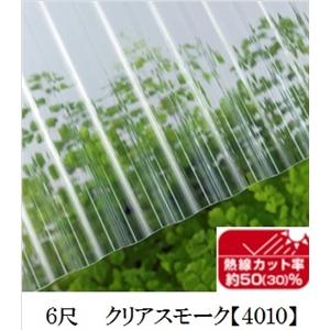 JIS規格品ポリカナミイタ 熱線カットタイプ クリアスモーク 6尺 ×10枚セット