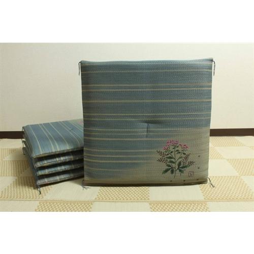 イケヒコ・コーポレーション(IKEHIKO)  純国産 捺染返し い草座布団 『藤袴(ふじばかま) 5枚組』 55×55cm×5P