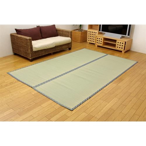 イケヒコ・コーポレーション(IKEHIKO)  純国産 糸引織 い草上敷 『柿田川』 三六間2畳(182×182cm)