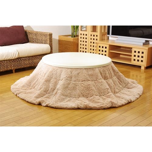 イケヒコ・コーポレーション(IKEHIKO)  フィラメント素材 こたつ布団単品 『フィリップ円形』 ベージュ 径220cm