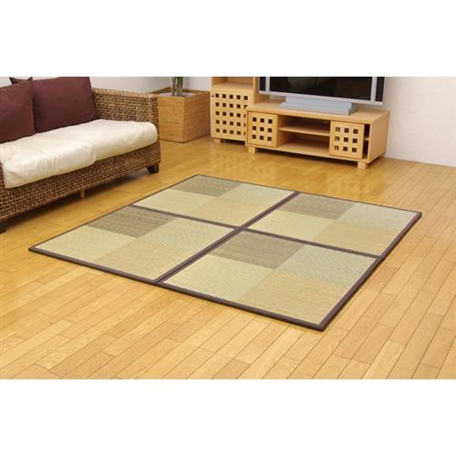 イケヒコ・コーポレーション(IKEHIKO)  ユニット畳 『ニール』 ブラウン 82×82×1.7cm(4枚1セット) 軽量タイプ