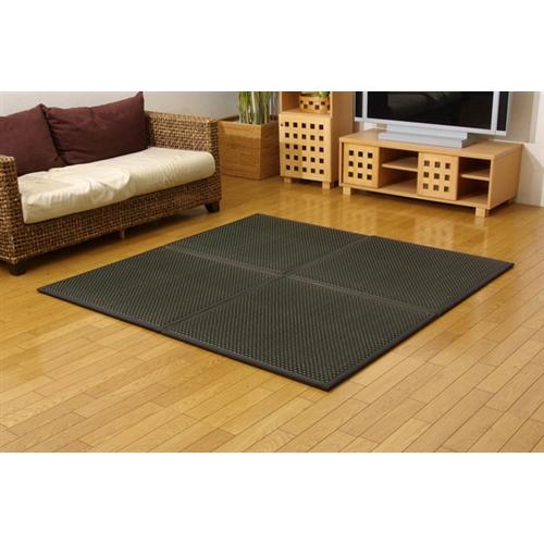 イケヒコ・コーポレーション(IKEHIKO)  ユニット畳 『フレア』 ブラック 82×82×2.3cm(6枚1セット)(中材:低反発ウレタン+フェルト)