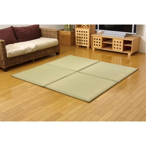 イケヒコ・コーポレーション(IKEHIKO)  ユニット畳 『フレア』 ナチュラル 82×82×2.3cm(4枚1セット)(中材:低反発ウレタン+フェルト)