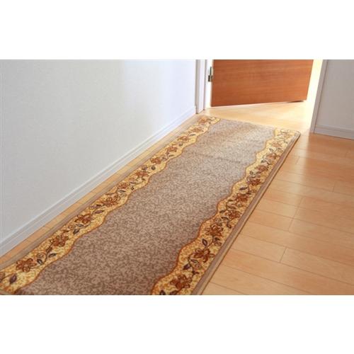イケヒコ・コーポレーション(IKEHIKO)  廊下敷 ナイロン100% 『リーガ』 ベージュ 約80×180cm 滑りにくい加工
