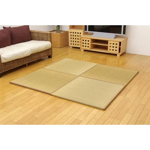 イケヒコ・コーポレーション(IKEHIKO)  純国産 ユニット畳 『右京』 ベージュ 82×82×2.5cm(4枚1セット)