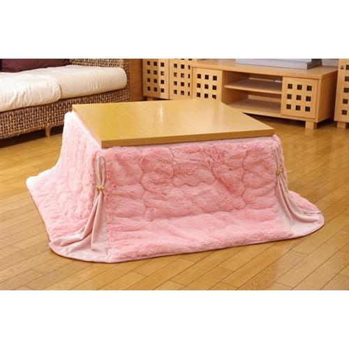 イケヒコ・コーポレーション(IKEHIKO)  フィラメント素材 省スペース こたつ布団 正方形 単品 『フィリップ省S正』 ピンク 160×160cm