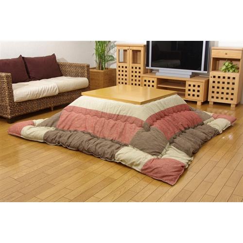 イケヒコ・コーポレーション(IKEHIKO)  インド綿 こたつ厚掛け布団単品 『和つむぎ』 レッド 205×205cm