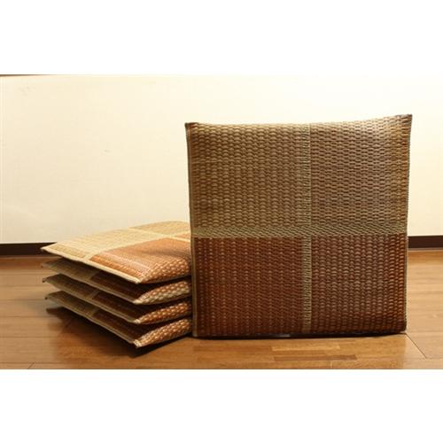 イケヒコ・コーポレーション(IKEHIKO)  純国産 織込千鳥 い草座布団 『フブキ 5枚組』 ブラウン 55×55cm×5P
