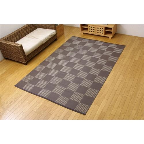 【受注生産品】イケヒコ・コーポレーション(IKEHIKO)  洗える PPカーペット 『ウィード』 ブラウン 江戸間3畳(174×261cm)