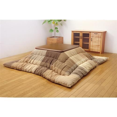イケヒコ・コーポレーション(IKEHIKO)  インド綿 こたつ布団 正方形 単品 『ポート』 ベージュ 約205×205cm
