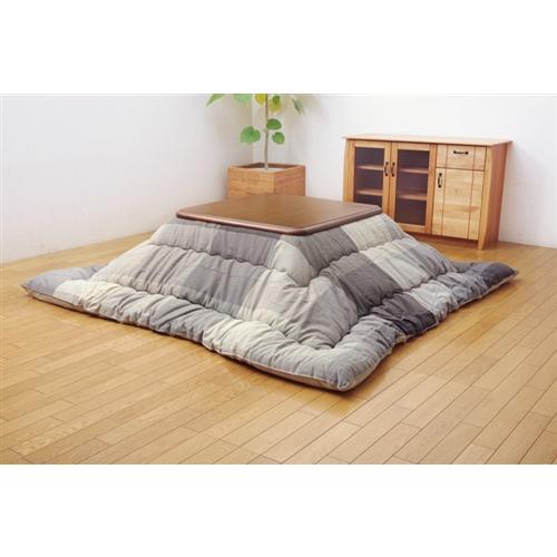 イケヒコ・コーポレーション(IKEHIKO)  インド綿 こたつ布団 長方形 単品 『ポート』 グレー 約205×245cm