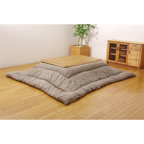 イケヒコ・コーポレーション(IKEHIKO)  インド綿 こたつ厚掛け布団単品 『クレタ』 ベージュ 205×245cm
