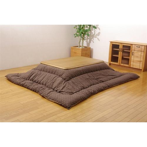 イケヒコ・コーポレーション(IKEHIKO)  インド綿 こたつ厚掛け布団単品 『クレタ』 ブラウン 205×205cm
