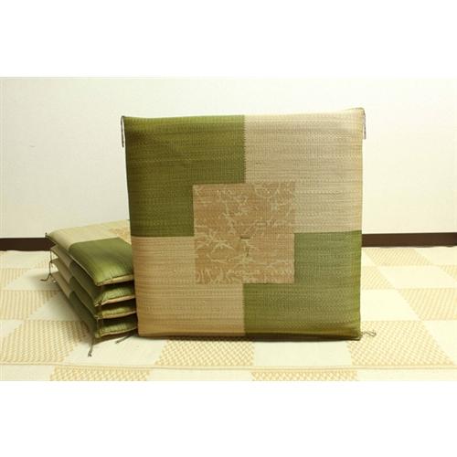 イケヒコ・コーポレーション(IKEHIKO)  純国産 捺染返し い草座布団 『草美(くさび) 5枚組』 グリーン 55×55cm×5P