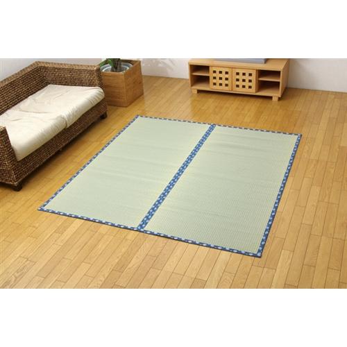 イケヒコ・コーポレーション(IKEHIKO)  純国産 糸引織 い草上敷 『岩木』 江戸間2畳(176×176cm)