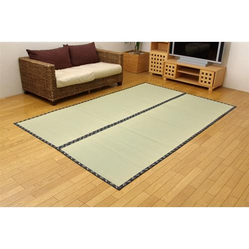 イケヒコ・コーポレーション(IKEHIKO)  純国産 糸引織 い草上敷 『梅花』 本間4.5畳(286×286cm)