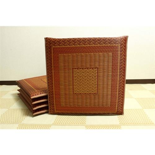 イケヒコ・コーポレーション(IKEHIKO)  純国産 袋織 千鳥い草座布団 『ランクス 5枚組』 ベージュ 55×55cm×5P