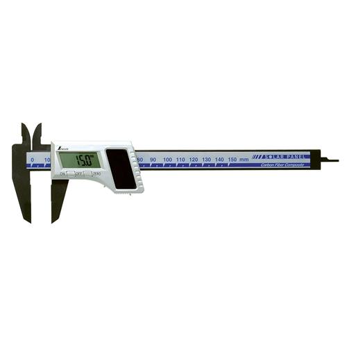 シンワ測定デジタルノギス 150mm カーボンソーラー