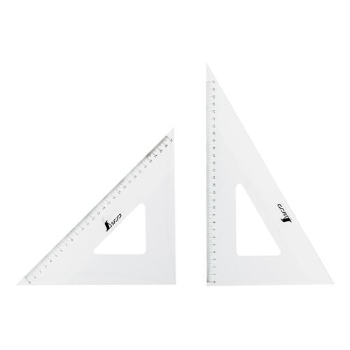 シンワアクリル三角定規 30cm