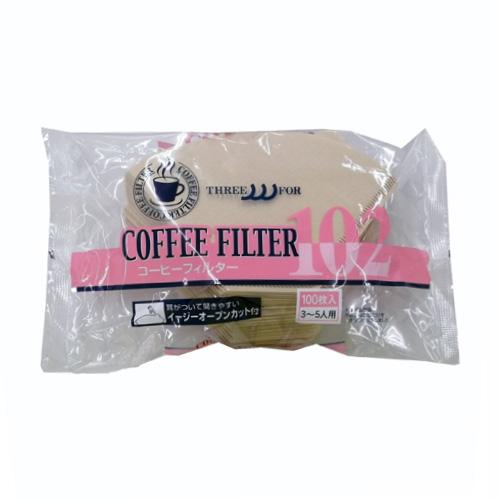 コーヒーフィルター無漂白(茶)100枚入
