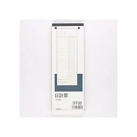 日計票(緑刷)DT32 別寸・タテ(210×75mm) 332826